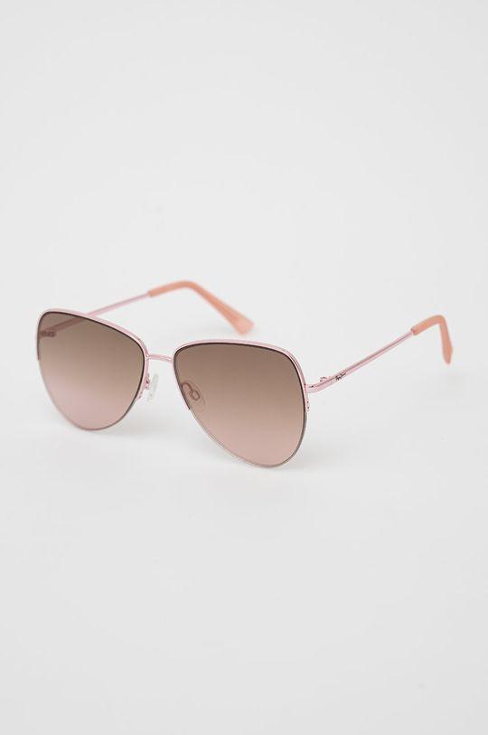 růžová Pepe Jeans - Sluneční brýle Semi Rimless Aviator Dámský