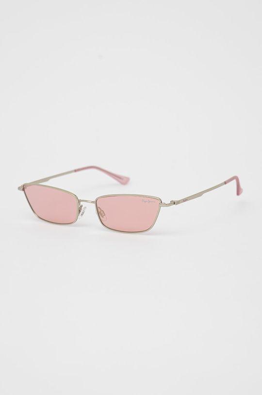 pastelowy różowy Pepe Jeans - Okulary przeciwsłoneczne Zoey Damski