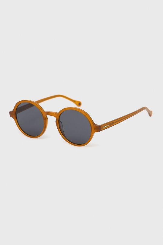 jantarová Pepe Jeans - Sluneční brýle Round Acetate Dámský