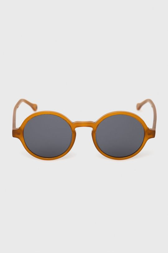 Pepe Jeans - Sluneční brýle Round Acetate jantarová
