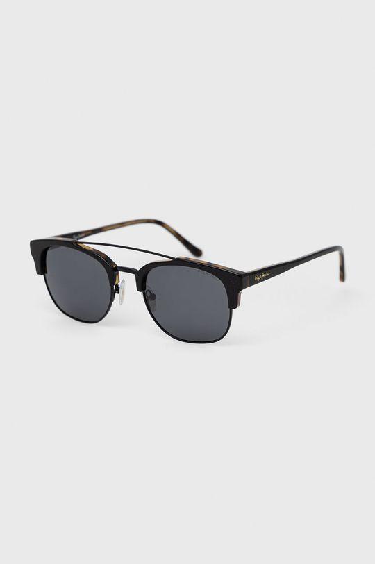černá Pepe Jeans - Sluneční brýle Square Clubmaster Pánský