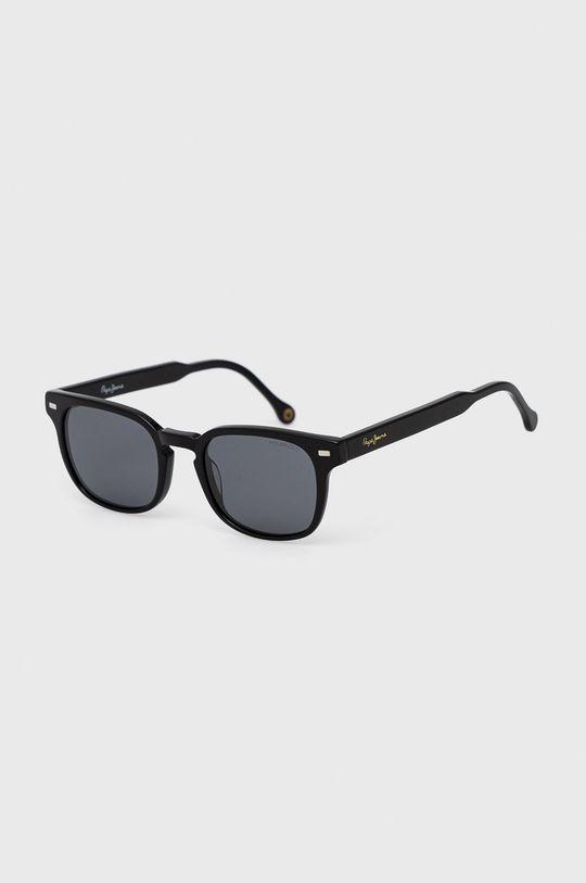 černá Pepe Jeans - Sluneční brýle Rectangular Vintage Pánský