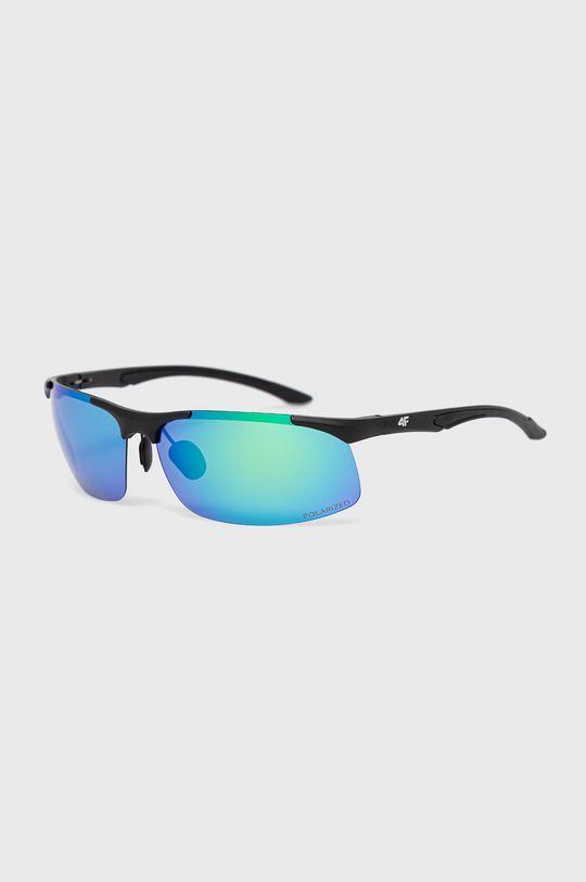 niebieski 4F - Okulary przeciwsłoneczne Unisex