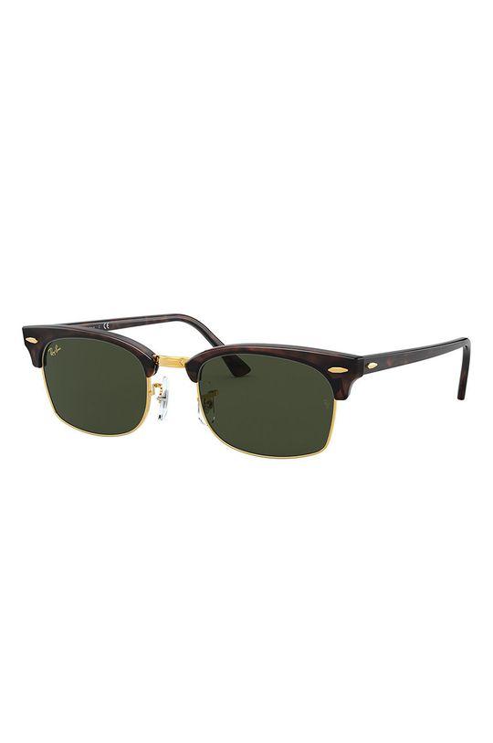 ciemny brązowy Ray-Ban - Okulary przeciwsłoneczne CLUBMASTER SQUARE Unisex