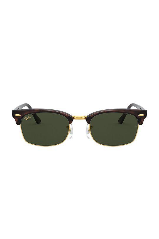 Ray-Ban - Okulary przeciwsłoneczne CLUBMASTER SQUARE ciemny brązowy