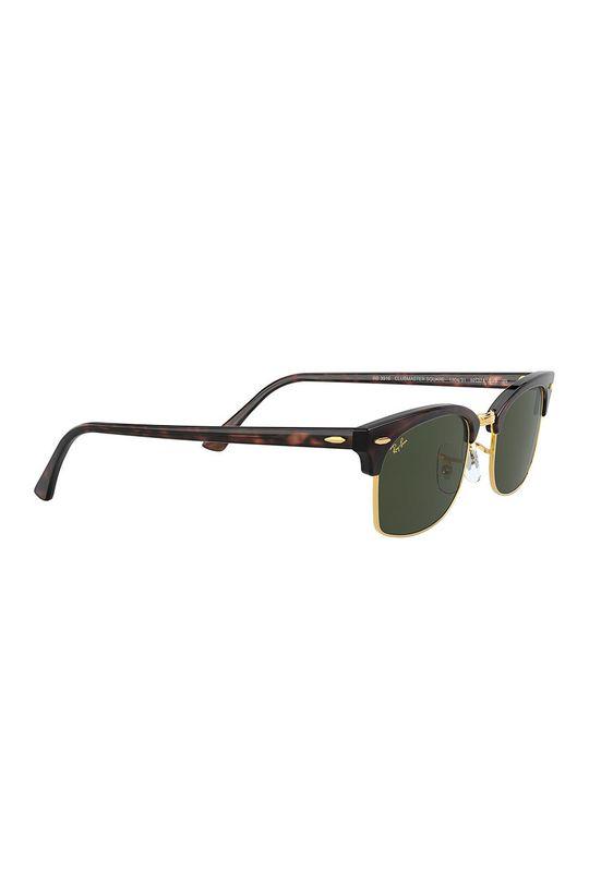 ciemny brązowy Ray-Ban - Okulary przeciwsłoneczne CLUBMASTER SQUARE