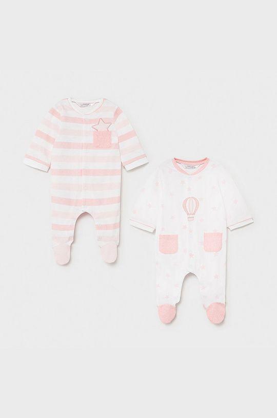 pastelowy różowy Mayoral Newborn - Śpioszki niemowlęce (2-PACK) Chłopięcy
