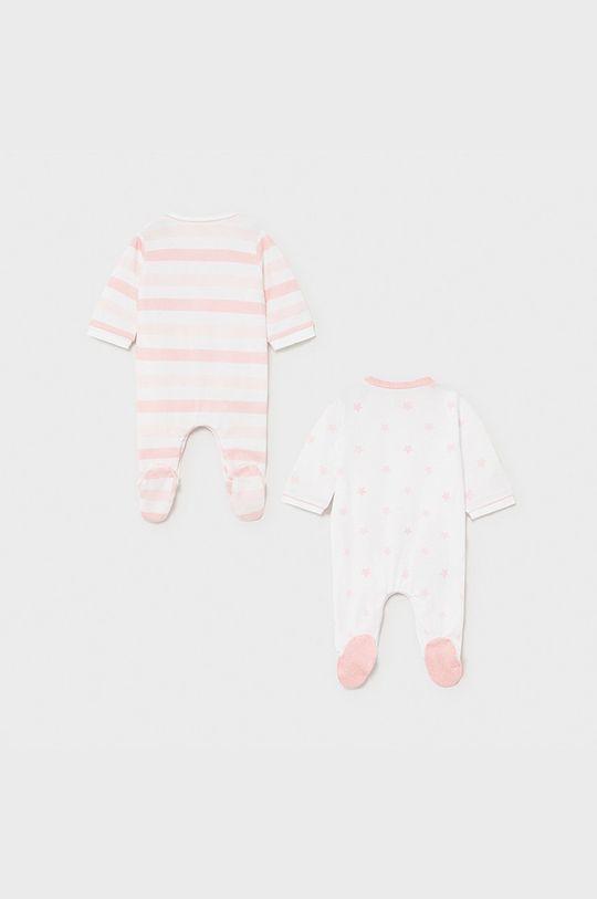 Mayoral Newborn - Śpioszki niemowlęce (2-PACK) pastelowy różowy