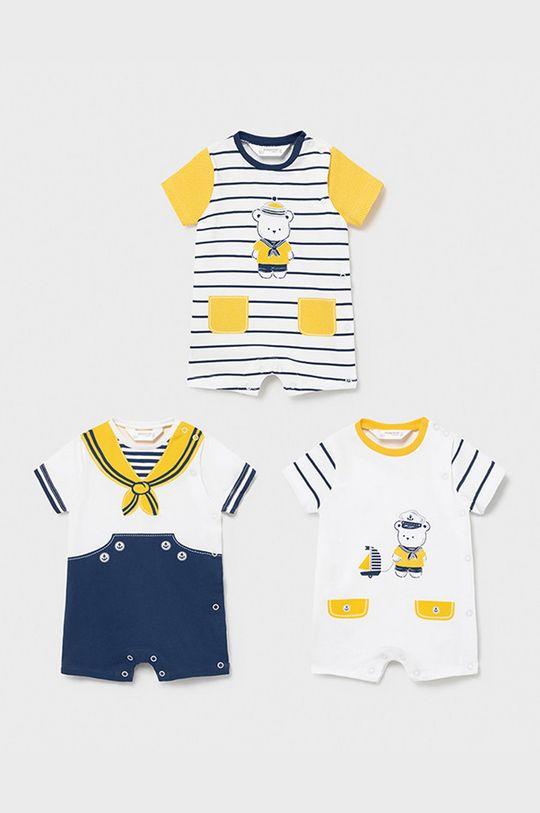 żółty Mayoral Newborn - Body dziecięce (3-PACK) Chłopięcy