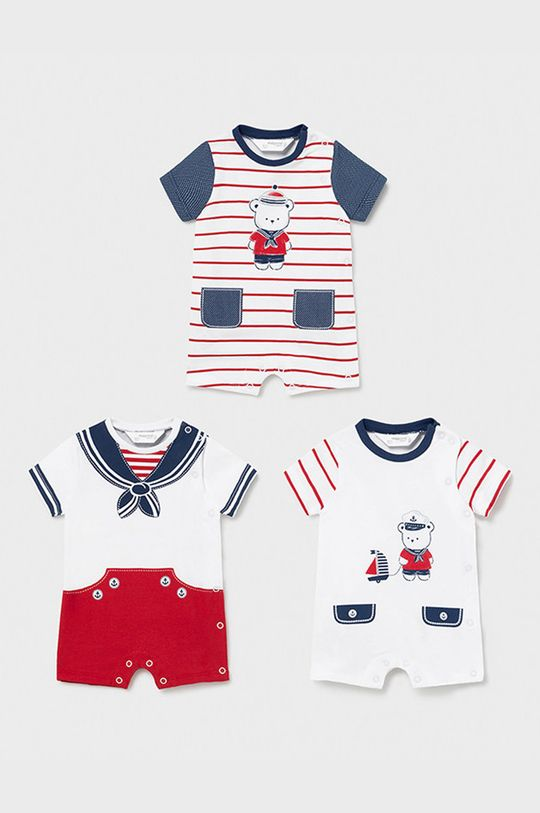 czerwony Mayoral Newborn - Body dziecięce (3-PACK) Chłopięcy