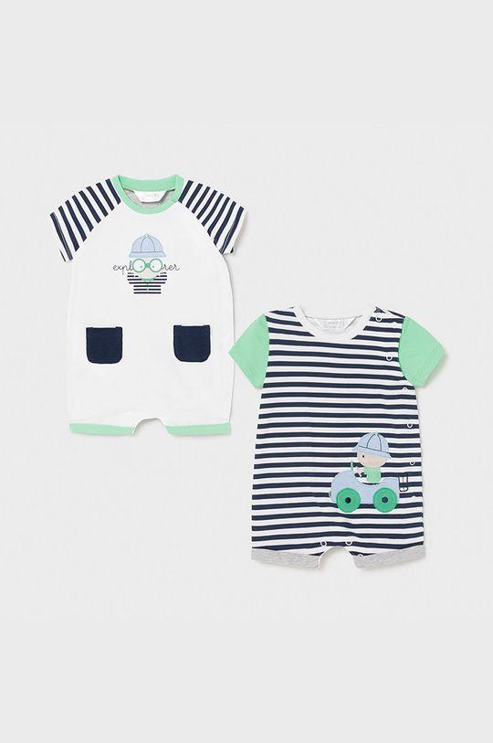 blady zielony Mayoral Newborn - Śpioszki niemowlęce (2-pack) Chłopięcy