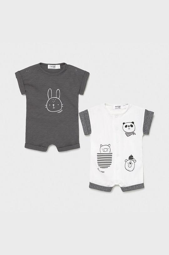 szary Mayoral Newborn - Śpioszki niemowlęce (2-PACK) Chłopięcy