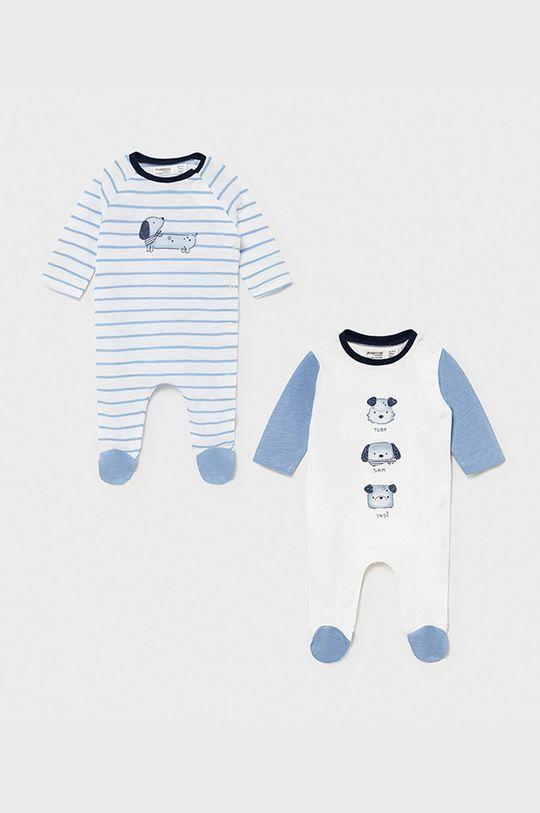 jasny niebieski Mayoral Newborn - Pajacyk niemowlęcy 55-86 cm (2-pack) Chłopięcy