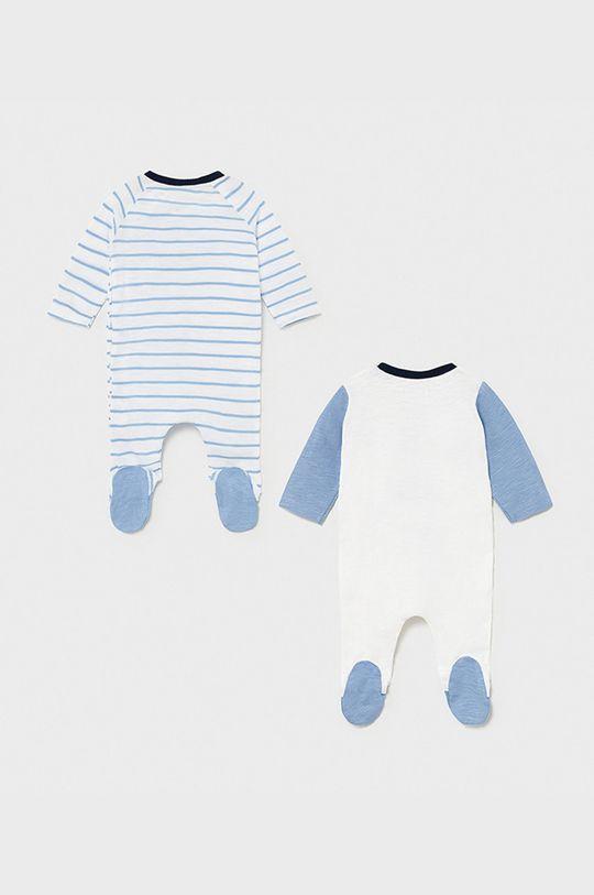 Mayoral Newborn - Pajacyk niemowlęcy 55-86 cm (2-pack) jasny niebieski