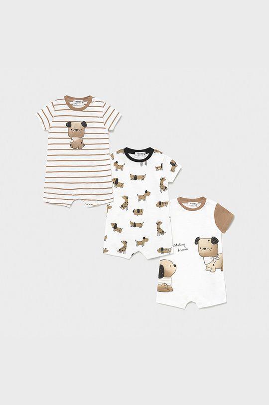 piaskowy Mayoral Newborn - Body niemowlęce 55-86 cm (3-pack) Chłopięcy