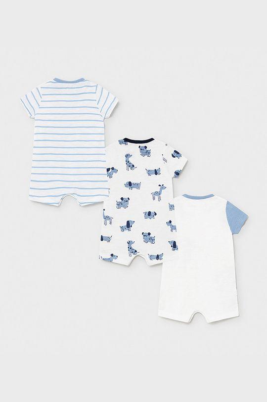 Mayoral Newborn - Body niemowlęce 55-86 cm (3-pack) jasny niebieski