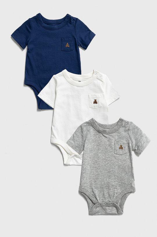 multicolor GAP - Body niemowlęce 50-86 cm (3-pack) Chłopięcy