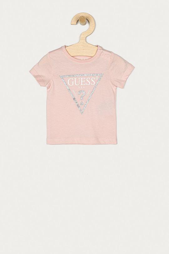 pastelově růžová Guess - Tričko Dívčí