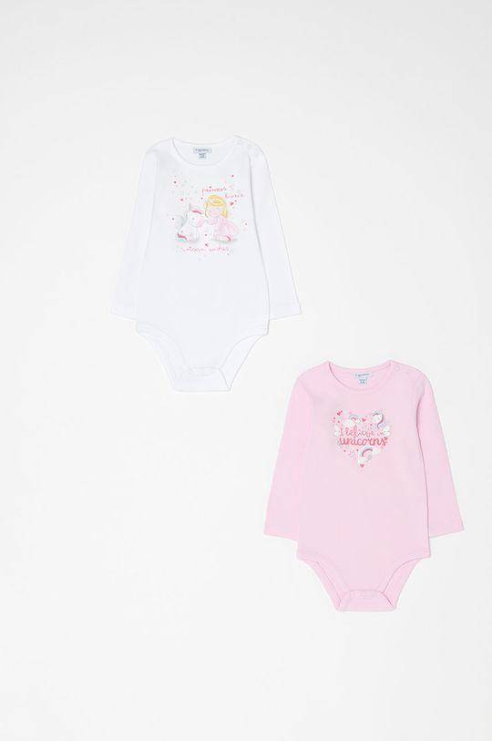 pastelowy różowy OVS - Body niemowlęce 74-98 cm (2-pack) Dziewczęcy
