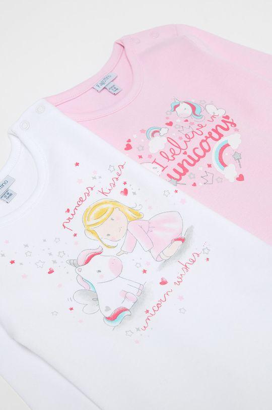 OVS - Body niemowlęce 74-98 cm (2-pack) pastelowy różowy