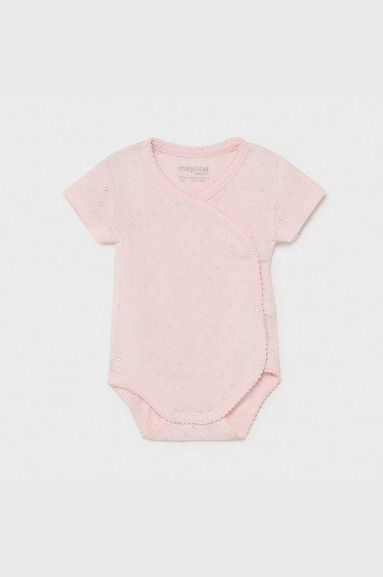 roz pastelat Mayoral Newborn - Body bebe De fete