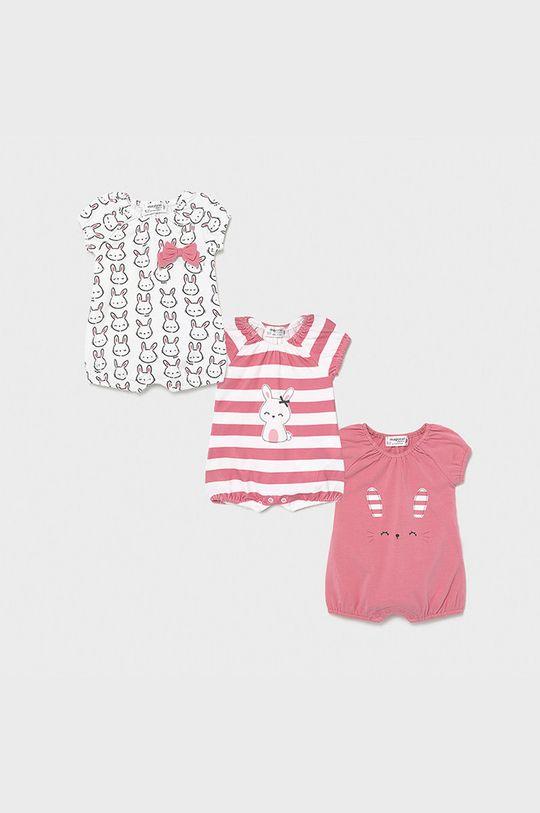 ostry różowy Mayoral Newborn - Body niemowlęce (3-PACK) Dziewczęcy