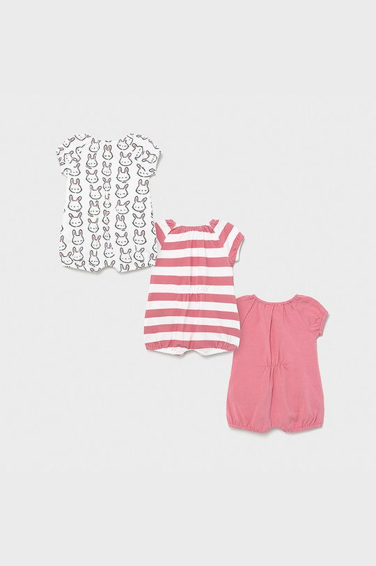 Mayoral Newborn - Body niemowlęce (3-PACK) ostry różowy