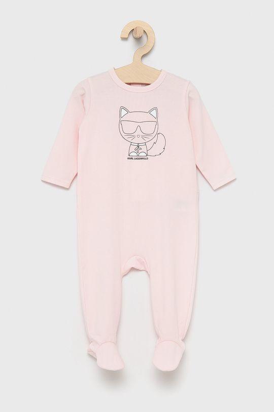 pastelowy różowy Karl Lagerfeld - Śpioszki niemowlęce Dziewczęcy
