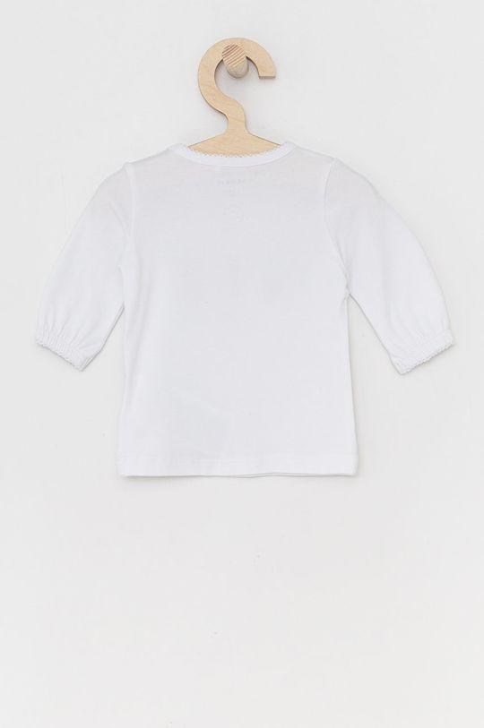 Name it - Dětské tričko s dlouhým rukávem bílá