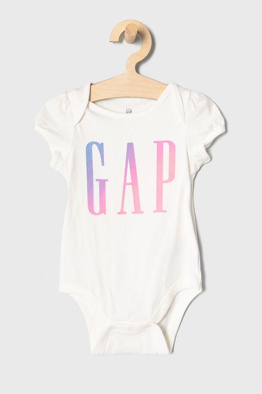 biały GAP - Body niemowlęce 50-86 cm Dziewczęcy