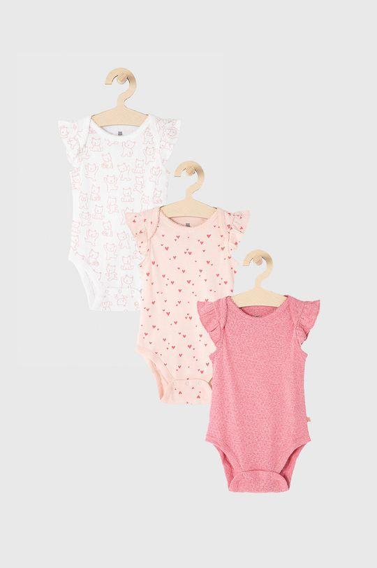 różowy GAP - Body niemowlęce 50-86 cm (3-pack) Dziewczęcy