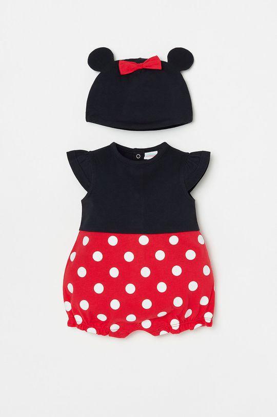 czerwony OVS - Czapka i body niemowlęce Dziewczęcy