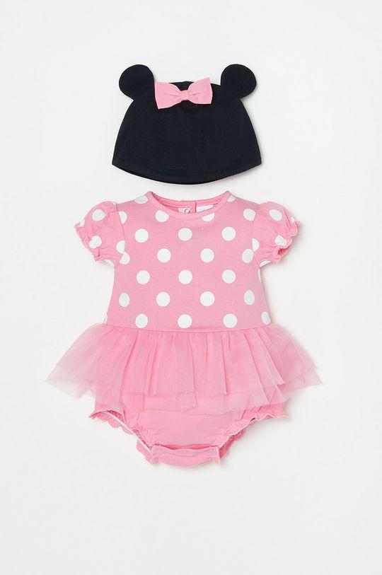 różowy OVS - Czapka i body niemowlęce Dziewczęcy