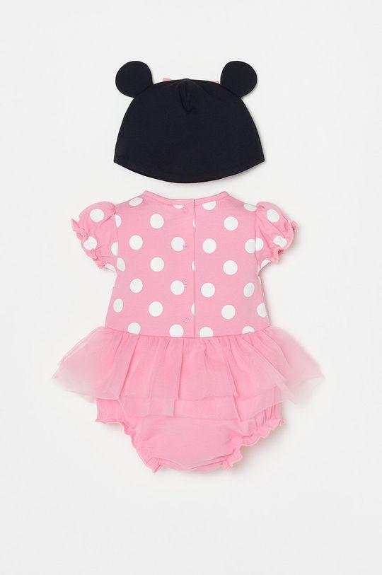 OVS - Czapka i body niemowlęce różowy