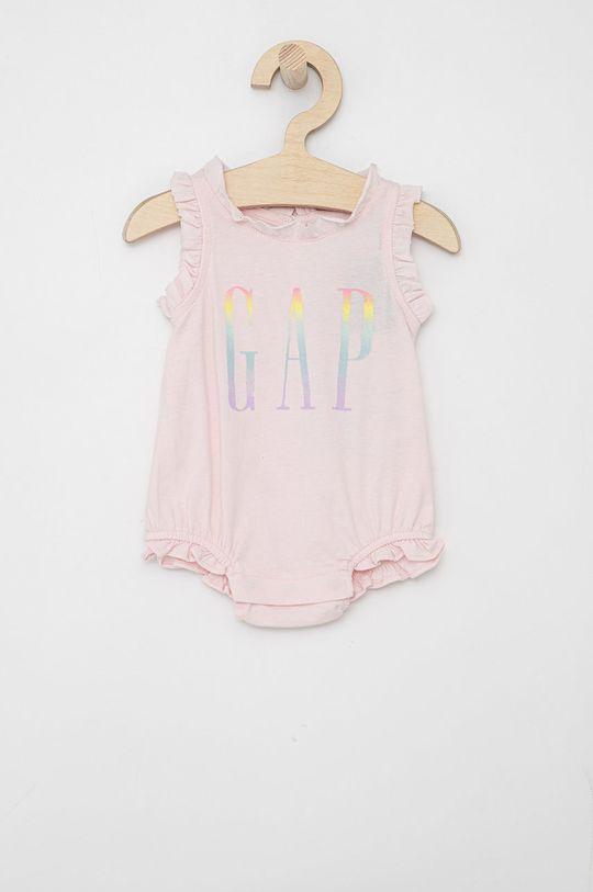 pastelově růžová GAP - Kojenecký overal Dívčí