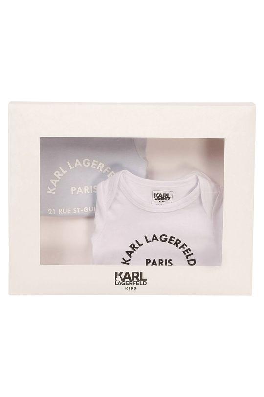 Karl Lagerfeld - Body niemowlęce (2-PACK) blady niebieski