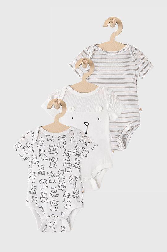 biały GAP - Body niemowlęce (3-pack) 50-86 cm Dziecięcy