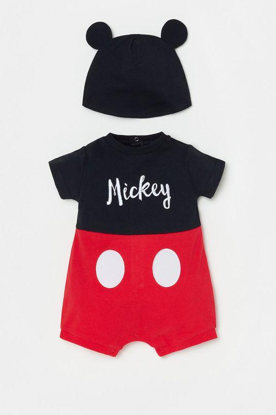 czerwony OVS - Czapka i body niemowlęce Dziecięcy