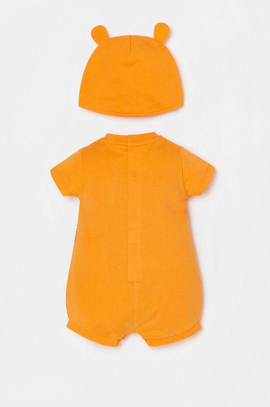OVS - Czapka i body niemowlęce pomarańczowy