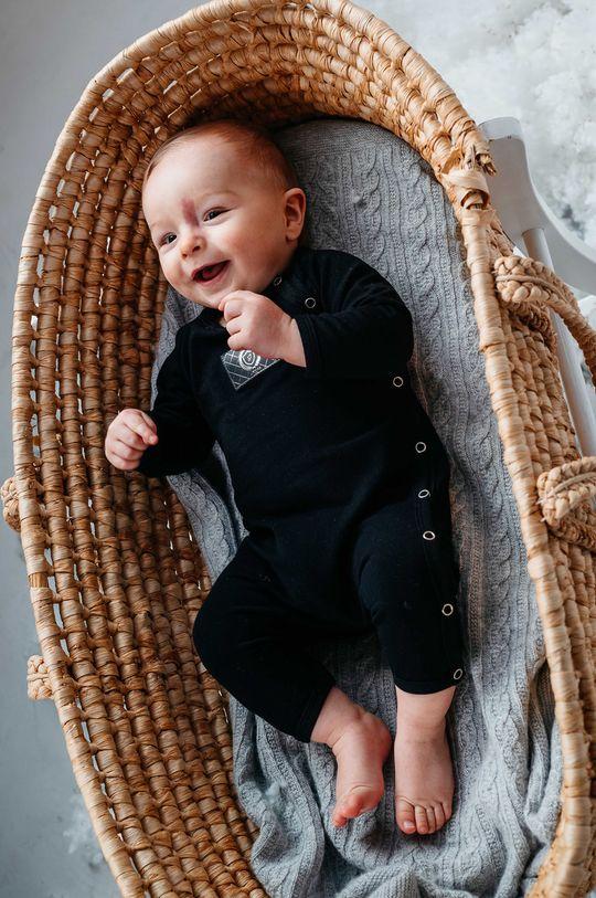 czarny Jamiks - Śpioszki niemowlęce KANGA Dziecięcy