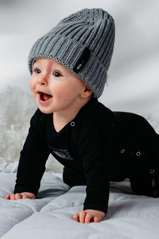 czarny Jamiks - Śpioszki niemowlęce KANGA