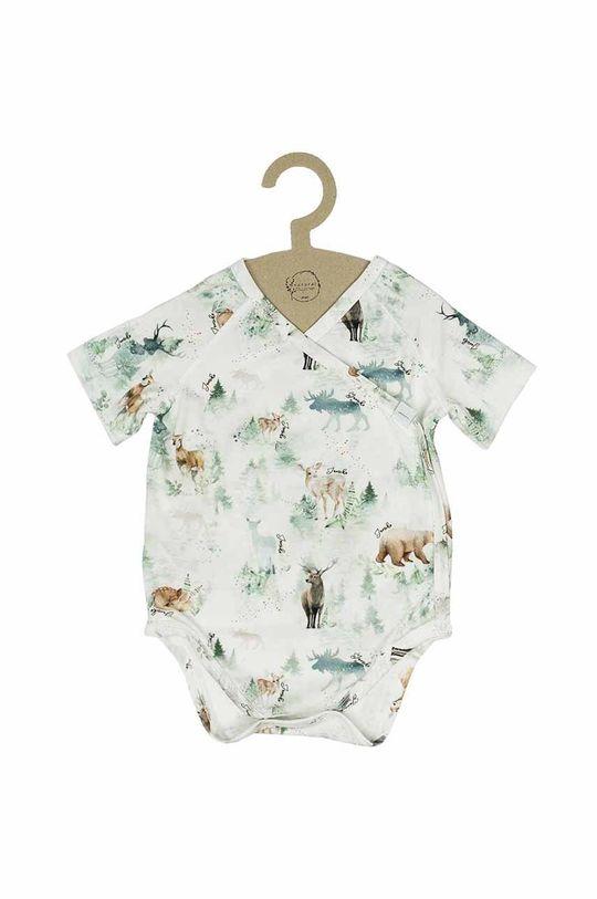 brudny zielony Jamiks - Body niemowlęce Tao II 56-68 cm Dziecięcy