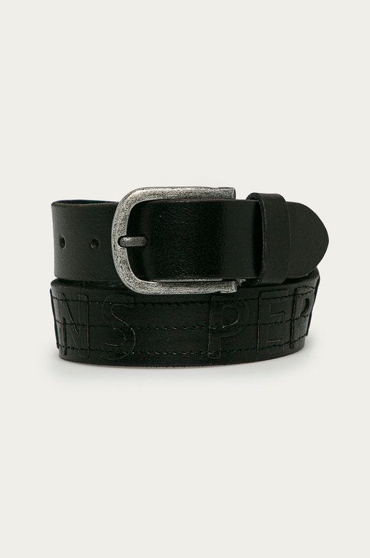čierna Pepe Jeans - Kožený opasok Namibia Chlapčenský