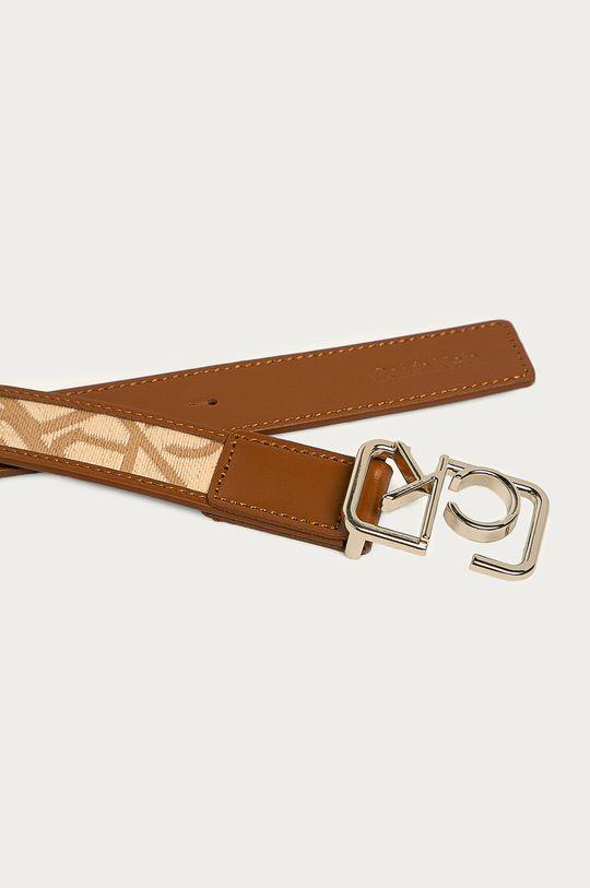 Calvin Klein - Pásek zlatohnědá