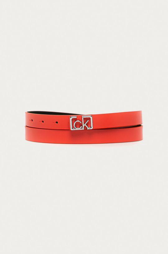 czerwony Calvin Klein - Pasek skórzany Damski