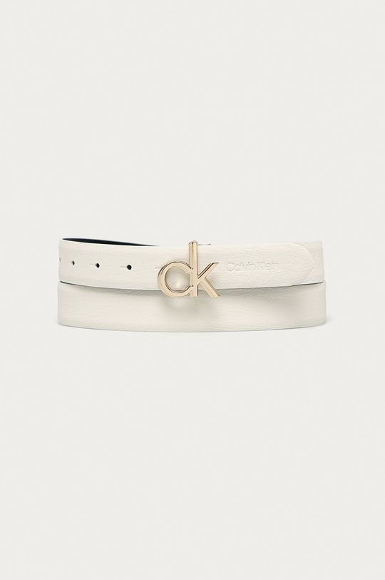 biały Calvin Klein - Pasek skórzany Damski