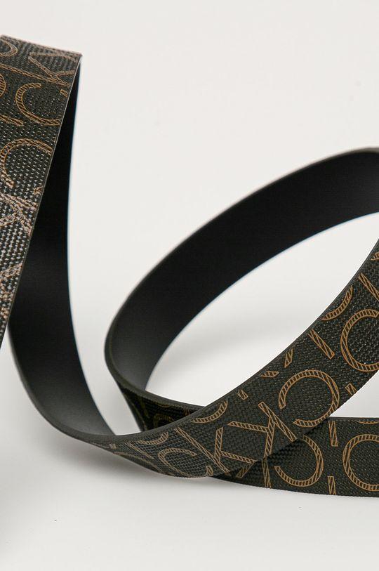 Calvin Klein - Pasek ciemny brązowy