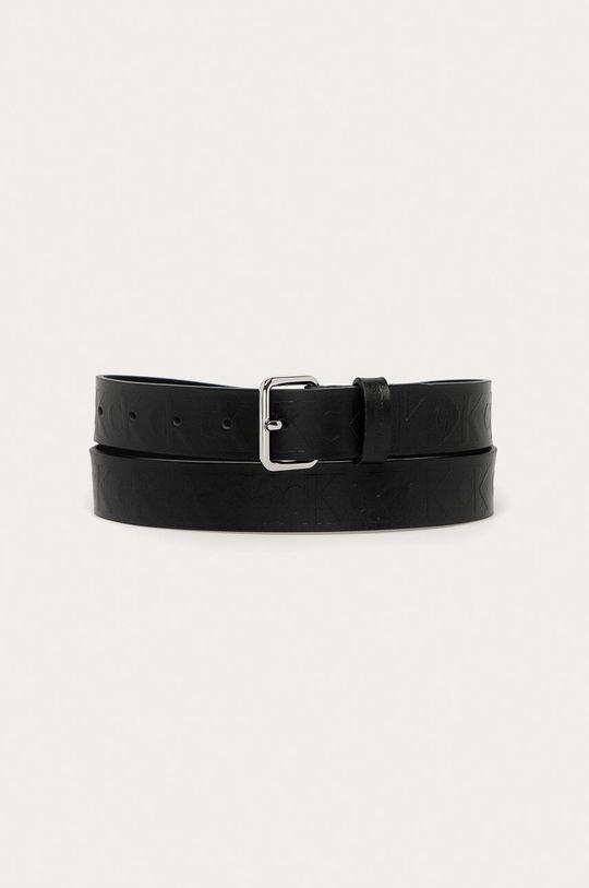 čierna Calvin Klein Jeans - Kožený opasok Dámsky