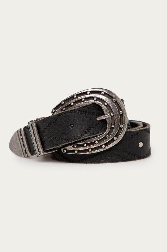 čierna Pepe Jeans - Kožený opasok Kaia Dámsky