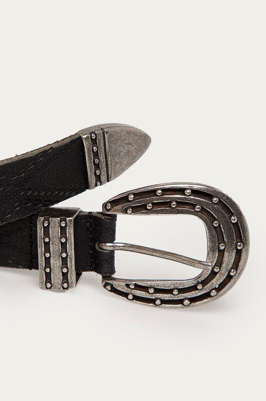 Pepe Jeans - Kožený opasok Kaia čierna